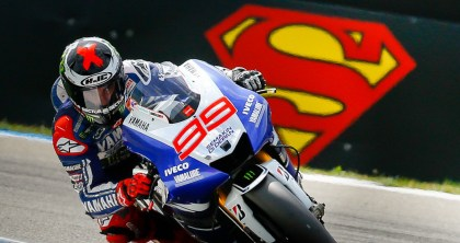 Forget Clark Kent - Jorge Lorenzo was the real Man of Steel at Assen. Photo: MotoGP