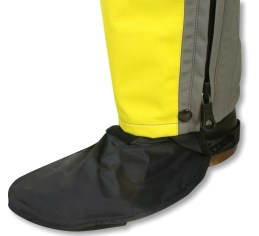 The waterproof boot covers make touring in the rain much easier.