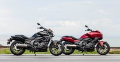 From the fuel tank backwards, the CTX700T and CTX700N are basically identical in stock trim.