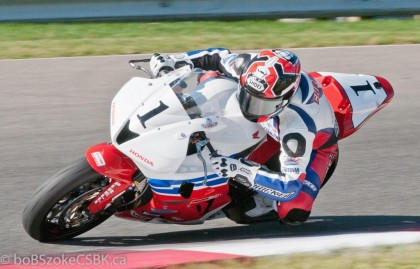 Jodi Christie managed his first win in pro superbike competition at Shubenacadie earlier this summer, but trouble at Mosport meant he could only finish third in the superbike standings (he also finished third in Sunday's race). However, he took first overall again in pro superbike. Photo: Bob Szoke