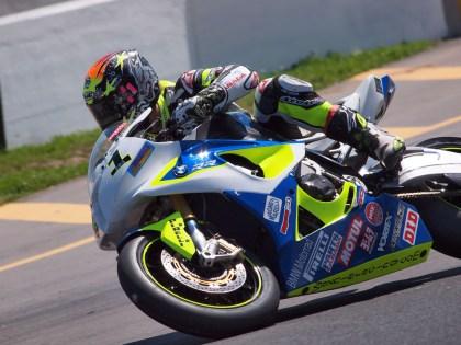 Jordan Szoke traded his superbike in for a dirt bike at the Corduroy Enduro. Photo: Rob MacLennan