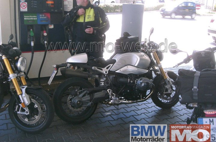BMW NineT spotted during testing