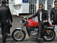 Royal Enfield has gone all-out to promote their new bike; if this promo photo is any indication, they seem to be targeting the hipster market.