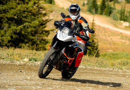 The week before he rode this 1190 Adventure R, Costa rode the Orange Crush event on a 990 Adventure Baja. He says there's a big difference.