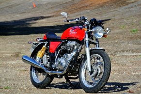 The Royal Enfield Continental GT is a modern-day incarnation of their original factory cafe racer.