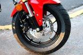 The 12-inch front wheels make the bike very nimble around town. Photo: Zac Kurylyk