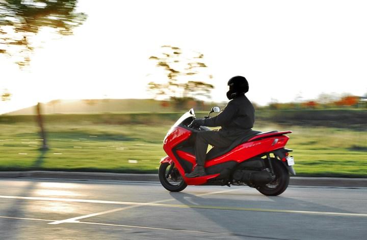 Jamie rides a Forza
