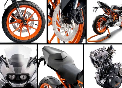 The RC390 has plenty of high-spec bits. It's not your daddy's beginner bike.