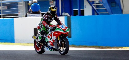 Sam Lowes took the win in the last supersport race, and won the championship. Photo: WorldSBK.com