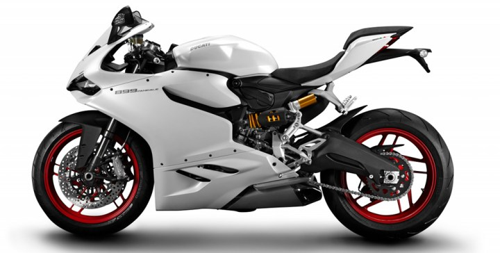 The 899 is very similar to the 1199 but with some cost cutting and taming measures.
