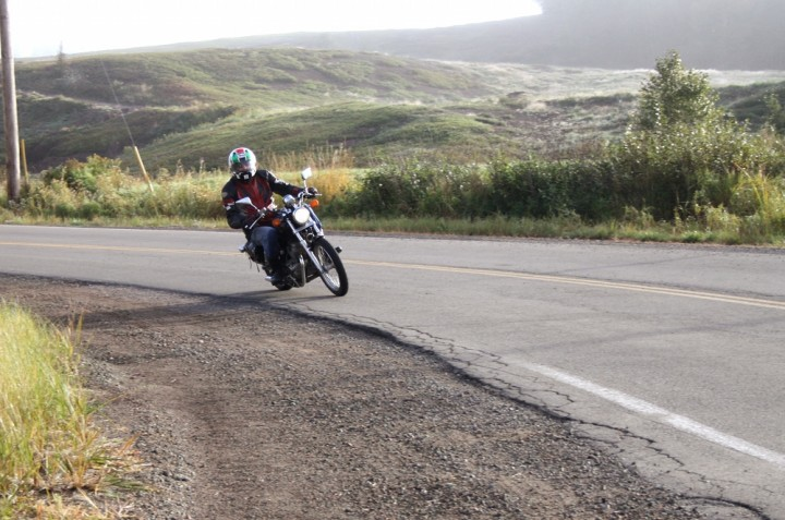 The situation improved when the sun got higher, but we didn't really warm up until we hit Parrsboro. Photo: Zac Kurylyk