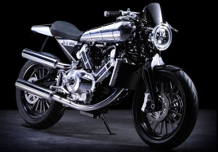 Here's the new Brough Superior SS100, brought out on the 90th anniversary of Brough Superior's most famous model.