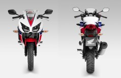 Fore and aft reveal the new styling tweaks up front.