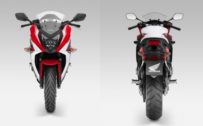 CBR from the front and rear