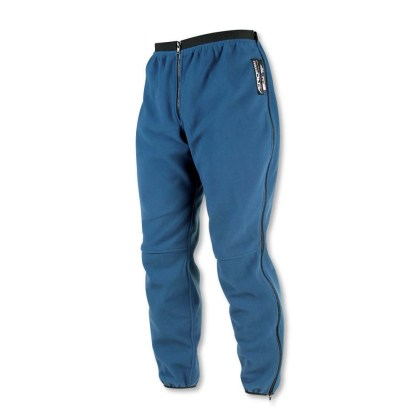 Warren left his fleece liner for the pants at home. When he rode through Alaska, the jacket liner kept his upper body warm, but he had to buy long johns to keep his legs warm by the time he hit Alaska.