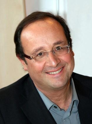 Francois Hollande, France's top helmet salesman.   Photo: Wikimedia