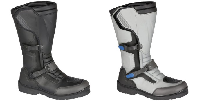 The Carroarmoto boots are available in black or white. Styling is similar to pretty much every other pair of dual sport boots out there, but they do look a little sharper than most.