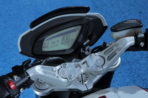 In keeping with the bike's modern styling, the gauges are LCD.