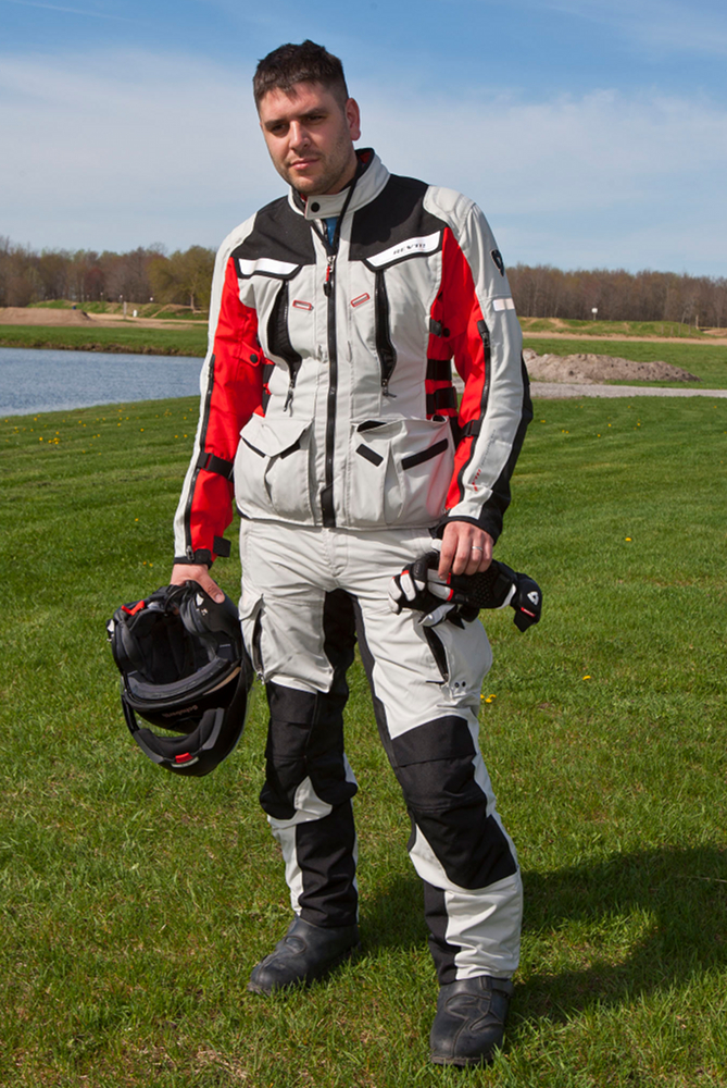 There are four pockets on the front of the jacket; only two are waterproof. The pants have waterproof pockets at the hip, and non-waterproof cargo pockets. Photo: Bill Petro