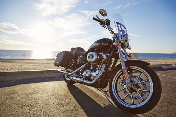 "The 1200T has a quick-remove windscreen, just like Harley-Davidson's other ""light touring"" bike, the Dyna-based Switchback."