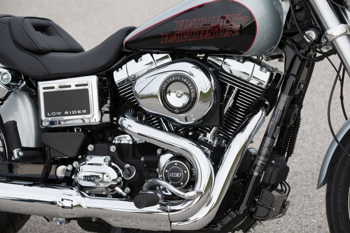 It's 2014 and Harley-Davidson has expanded the number of liquid-cooled bikes in their lineup, but the Low Rider is still built around the air-cooled Twin Cam 103 motor.