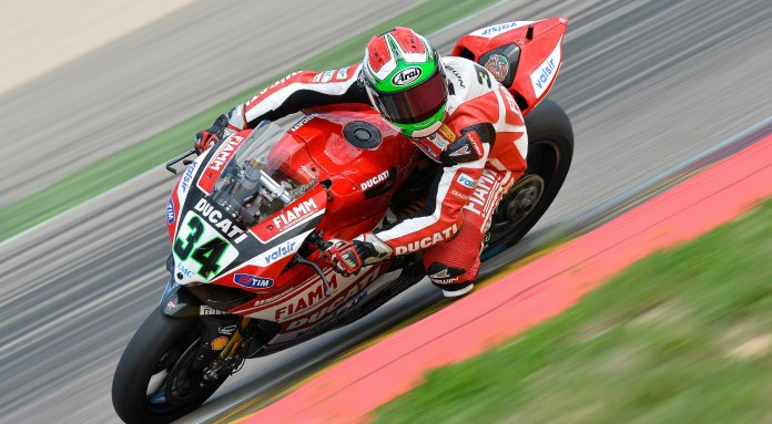 David Giugliano collided with Rea at one point in the second race, but both managed to finish.