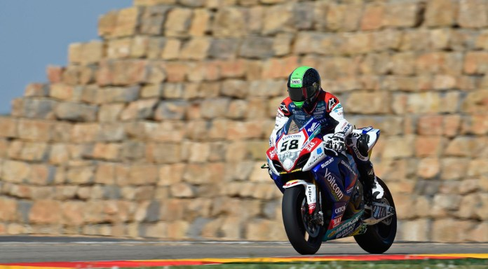 Eugene Laverty's fifth and sixth were enough to make him happy, after he was off the track in both races but still managed to score points.
