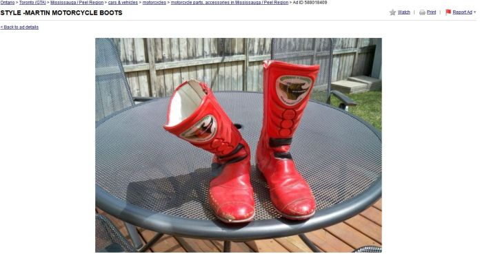 There are usually used boots available on Kijiji, but we'd recommend against them. They likely stink pretty badly.