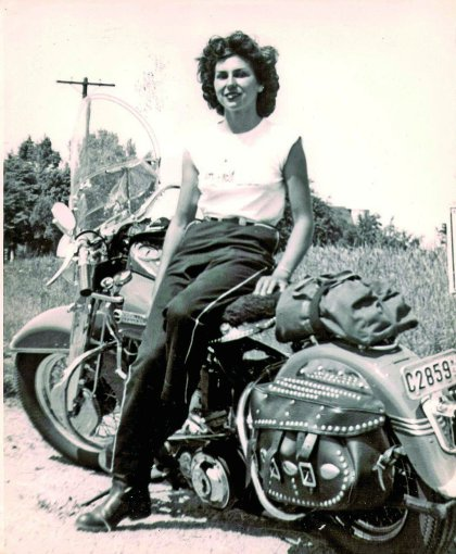 Gloria Struck, back in the 1950s in her early riding career. Photo: North Jersey
