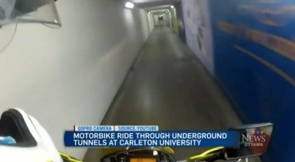 Riding the tunnels. Photo: CTV
