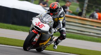 Mika Kallio managed to build up two leads in the restarted Moto2 race, and won.