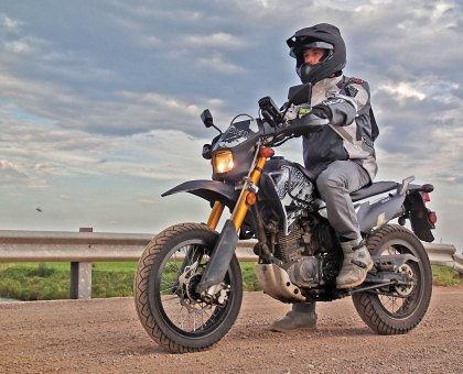 The Konker may be a detuned Chinese copy of a low-powered Suzuki, but it's a forgiving beginner bike.