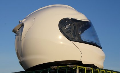I liked the helmet's Pearl White finish; it was easy to clean, and kept cool in the sun.
