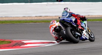 Marquez finally got around Lorenzo but the battle was tight for the whole race.