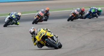 Maverick Vinales led Moto2 start to finish.