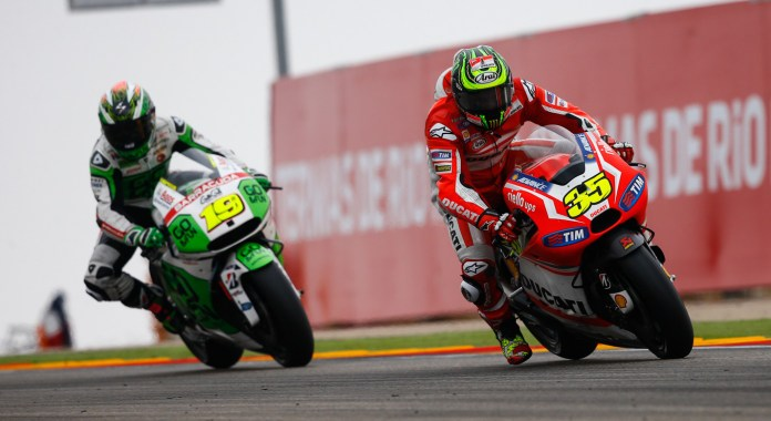 After a season of disappointment with the Ducati factory squad, Crutchlow finally managed a decent result.