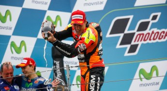 Aleix Espargero's second-place finish was his first podium in MotoGP.