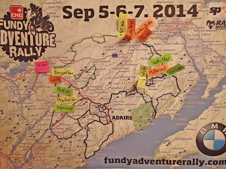 The route guide for the Fundy Adventure Rally. Gnarly stuff, no?
