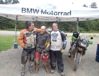 More happy customers. Rodney trail (left) went on to win best GS rider award.