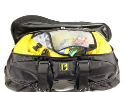 Along with dry bags, the Boulder Beta uses a waterproof map case to keep your belongings dry.