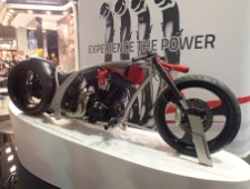 There always has to be one unridable v-twin custom. The good thing about EICMA is that there was actually only one.