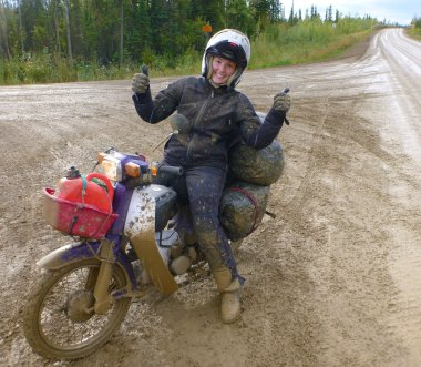 Dalton Highway in the wet. Fear level: fun
