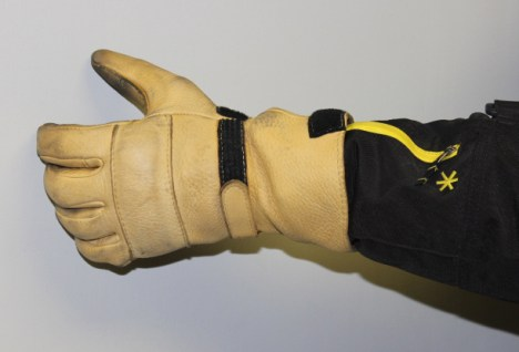 Tighten up the cuffs, and you can wear the jacket under your gloves, to keep out rain and wind.
