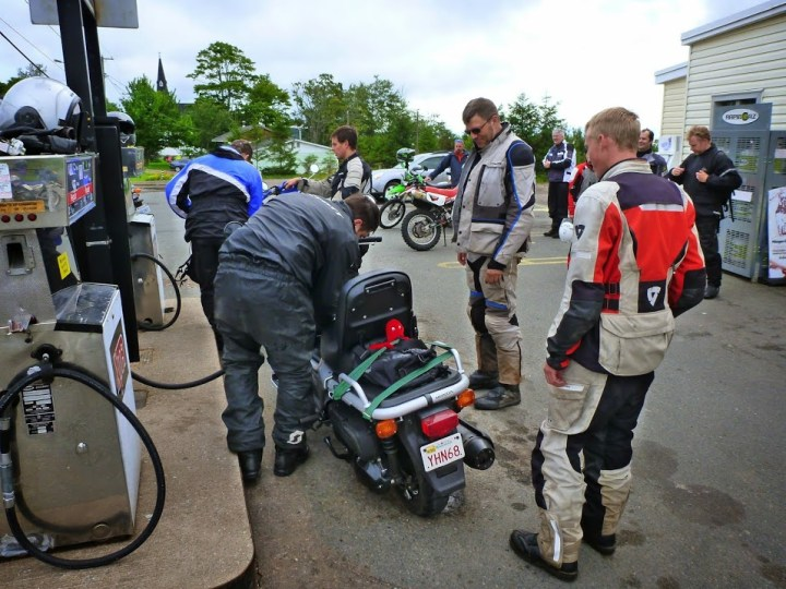 Does this rainsuit make my butt look big? The Ergonomic Pro kept out the H20 during the 2014 D2D rally, and there was a lot of it that weekend. Photo: Ron Kierstead