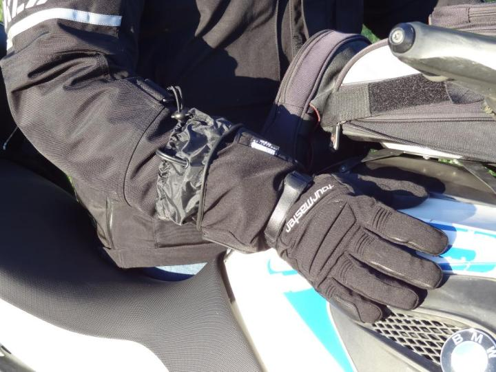 Although Warren found the gloves would eventually get saturated during a long, rainy ride (they're water-resistant, not waterproof), the heating elements always kept his hands warm.