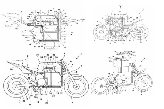 Honda True Adventure Patent drawing
