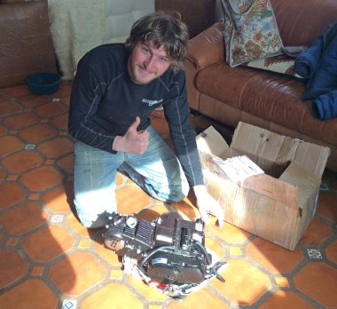 My new engine arriving from M.T.A.C.W.T.M.P