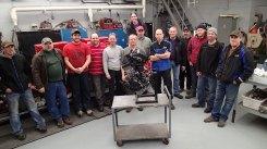 Technicians, Gary and a rebuilt H2R engine