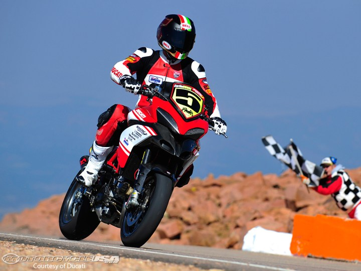 Carlin Dunn takes victory in 2012 on a Ducati Multistrada