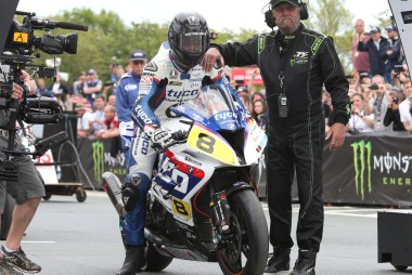 Guy Martin ended up in fourth, battling his way up the ranks after a poor start.